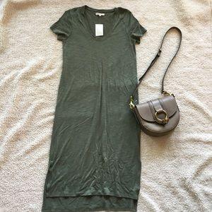 NWT Madewell Sandwashed Tee Maxi Dress, M